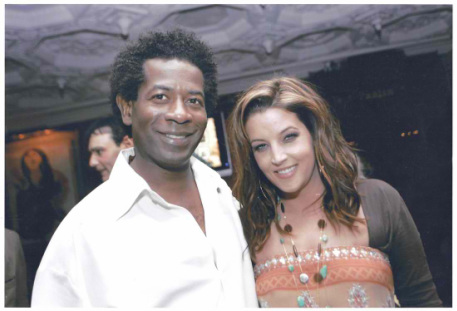 Lisa Marie Presley with Aaron Akins Jazz Singer and Actor